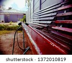 bench garden nature | Shutterstock . vector #1372010819