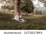 young wedding romantic couple...   Shutterstock . vector #1372017893