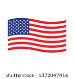 american waving flag vector... | Shutterstock .eps vector #1372047416