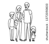 parents couple with son and... | Shutterstock .eps vector #1372050833