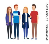 group of people characters | Shutterstock .eps vector #1372051199