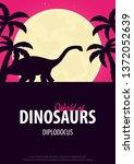 poster world of dinosaurs....   Shutterstock .eps vector #1372052639