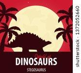 banner world of dinosaurs....   Shutterstock .eps vector #1372052660