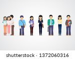 college students. diverse... | Shutterstock .eps vector #1372060316