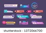 set of tv news bar logos  icons ...   Shutterstock .eps vector #1372066700