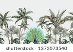 beautiful hand drawn tropic ... | Shutterstock .eps vector #1372073540