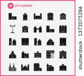 city elements solid glyph icons ... | Shutterstock .eps vector #1372075286