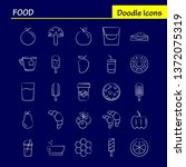 food hand drawn icon for web ...