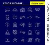 restaurant and bar hand drawn...