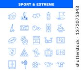 sport and extreme line icons... | Shutterstock .eps vector #1372075343