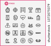 fitness line icon pack for...