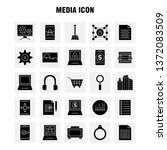 media icon solid glyph icons...