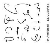 sketch arrow set | Shutterstock .eps vector #1372085456