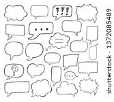blank empty speech bubbles for... | Shutterstock .eps vector #1372085489