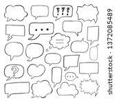 blank empty speech bubbles for... | Shutterstock .eps vector #1372085489
