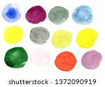 watercolors on paper | Shutterstock . vector #1372090919