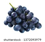 Fresh Blue Grapes Isolated