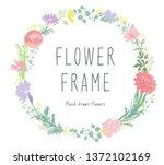pretty flower circle   Shutterstock .eps vector #1372102169