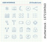 user interface  25 doodle icons.... | Shutterstock .eps vector #1372104563