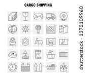 cargo shipping line icon for...
