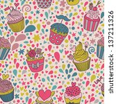 bright tasty background made of ... | Shutterstock .eps vector #137211326