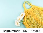 yellow eco bag and three... | Shutterstock . vector #1372116980