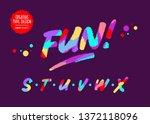 vector modern colourful... | Shutterstock .eps vector #1372118096