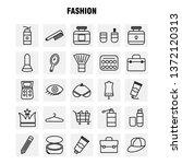fashion line icons set for...