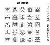 spa saloon line icon pack for... | Shutterstock .eps vector #1372121123