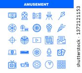 amusement  line icons set for...