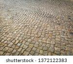cobbled pavement full frame...   Shutterstock . vector #1372122383