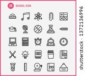 school icon line icon pack for...