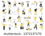 set of business people flat... | Shutterstock .eps vector #1372137170