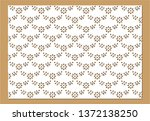 cotton lace pattern for fashion | Shutterstock .eps vector #1372138250