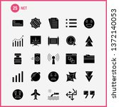 net solid glyph icons set for...