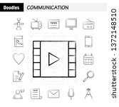 communication hand drawn icons...