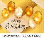 golden balloons with black... | Shutterstock .eps vector #1372151300