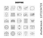 shopping line icon for web ...