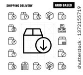 shipping delivery line icon... | Shutterstock .eps vector #1372155719
