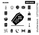 religion solid glyph icons set...