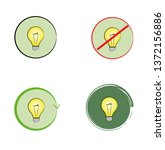 light bulb idea. vector... | Shutterstock .eps vector #1372156886