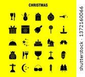 christmas solid glyph icons set ...