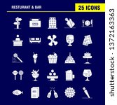 restaurant and bar solid glyph...