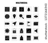 multimedia solid glyph icon for ...