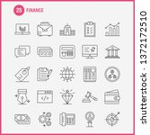 finance line icons set for... | Shutterstock .eps vector #1372172510
