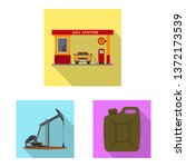 isolated object of oil and gas... | Shutterstock .eps vector #1372173539