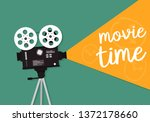 movie time concept. template... | Shutterstock .eps vector #1372178660