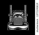 chrome truck front view black...   Shutterstock .eps vector #1372190819