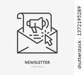 e mail newsletter flat line... | Shutterstock .eps vector #1372195289
