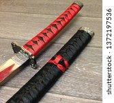 macro photo samurai katana... | Shutterstock . vector #1372197536